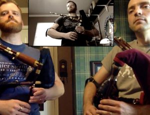 "New video featuring ""The Gael"" with fellow piper Peter Bailey!"