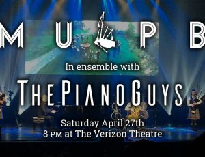 Joining The Piano Guys onstage April 27!